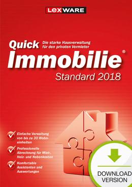 Lexware QuickImmobilie Standard 2018 Jahresversion (365-Tage) für PC(WIN)
