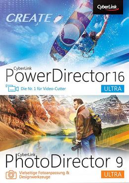 CyberLink PowerDirector 16 Ultra & PhotoDirector 9 Ultra Duo für PC(WIN)