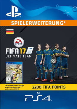 FIFA 17 2200 FUT Points Pack - Ultimate Team für PS4