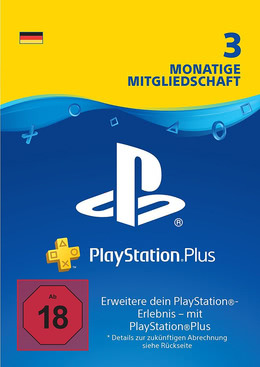 PlayStation Plus Mitgliedschaft 3 Monate / 90 Tage für PS4