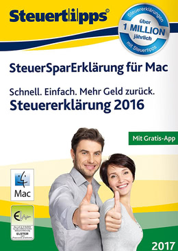 SteuerSparErklärung Mac 2017 (für Steuerjahr 2016) für MAC