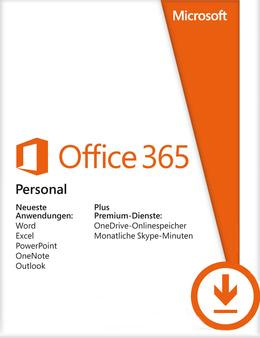 Office 365 Personal - 1 User / 12 Monate für PC(WIN)