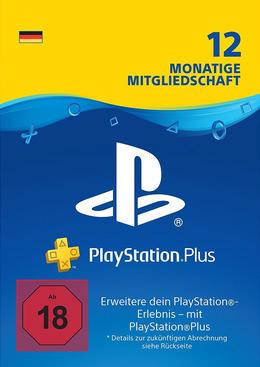 PlayStation Plus Mitgliedschaft 12 Monate / 365 Tage für PS4