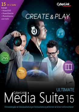 CyberLink Media Suite 15 Ultimate für PC(WIN)